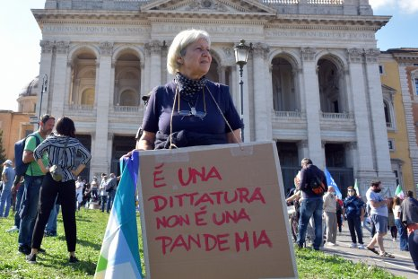 COVID Denier Protest Rome