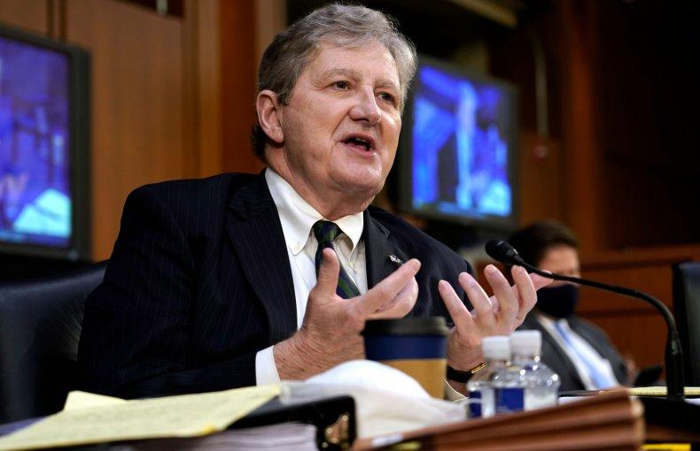 senator john kennedy barrett god