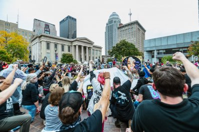 Black Lives Matter demonstrators in Louisville