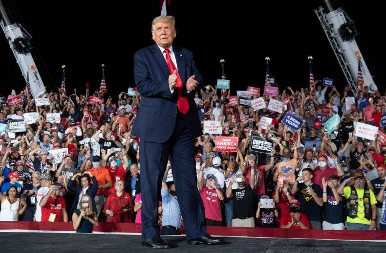 Trump Florida rally speech kiss men Biden