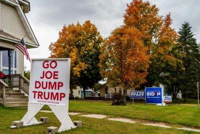 Joe Biden yard sign