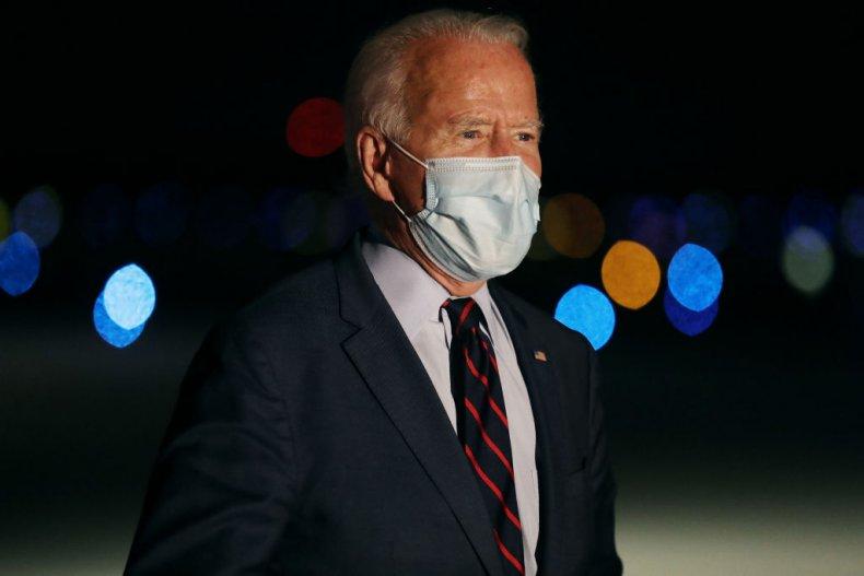 Joe Biden Talks to Reporters
