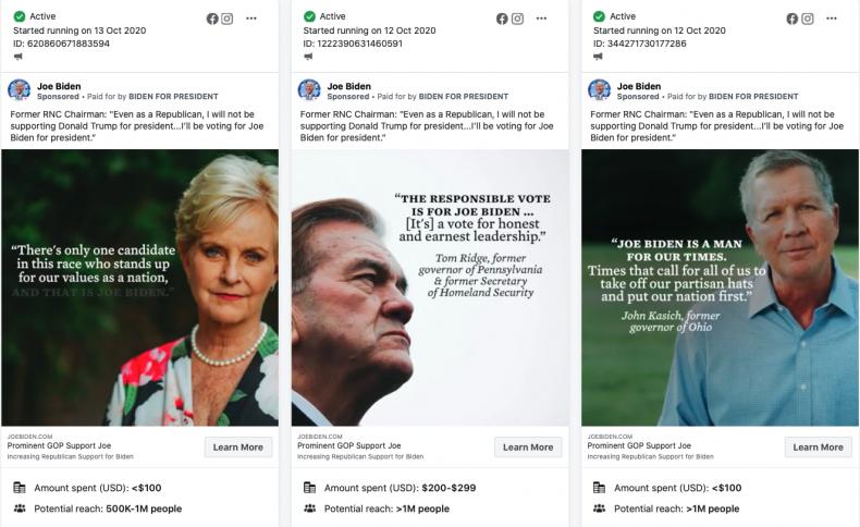 Biden Facebook ads