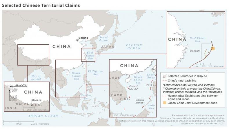 china, map, territory, disputes, india, japan