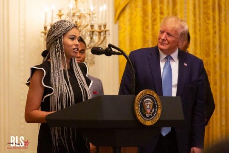Kearyn Bolin with Donald Trump