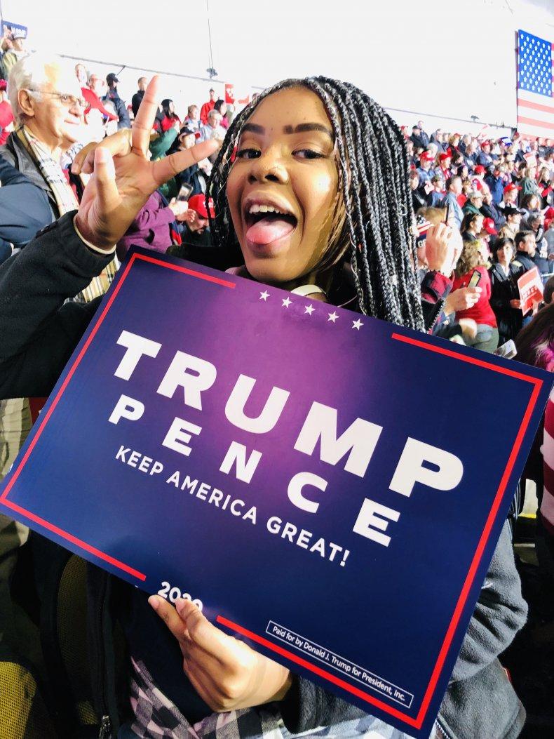 Gerrin Alexander at Trump rally