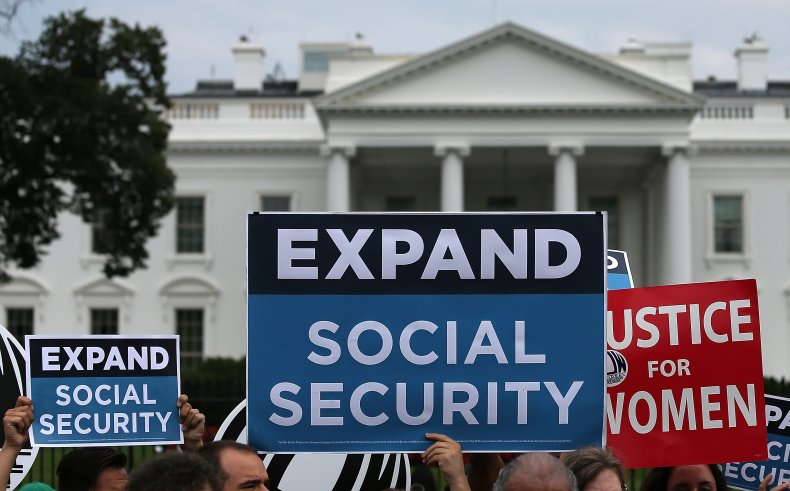 social security demonstration WH 2015