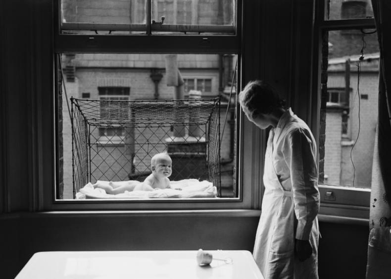 Urban window baby cage