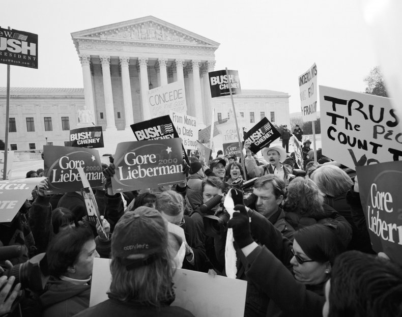 Bush v. Gore decided at Supreme Court