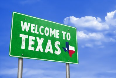 Texas Welcome Sign
