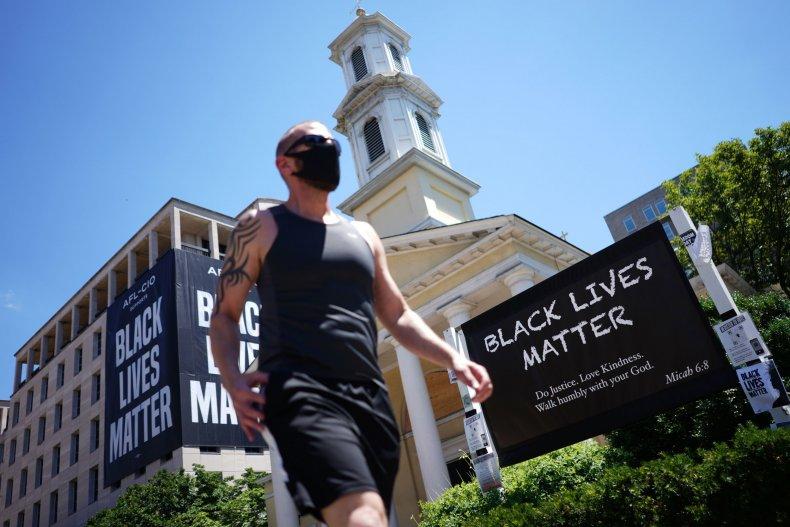 Black Lives Matter sign church Washington D.C.