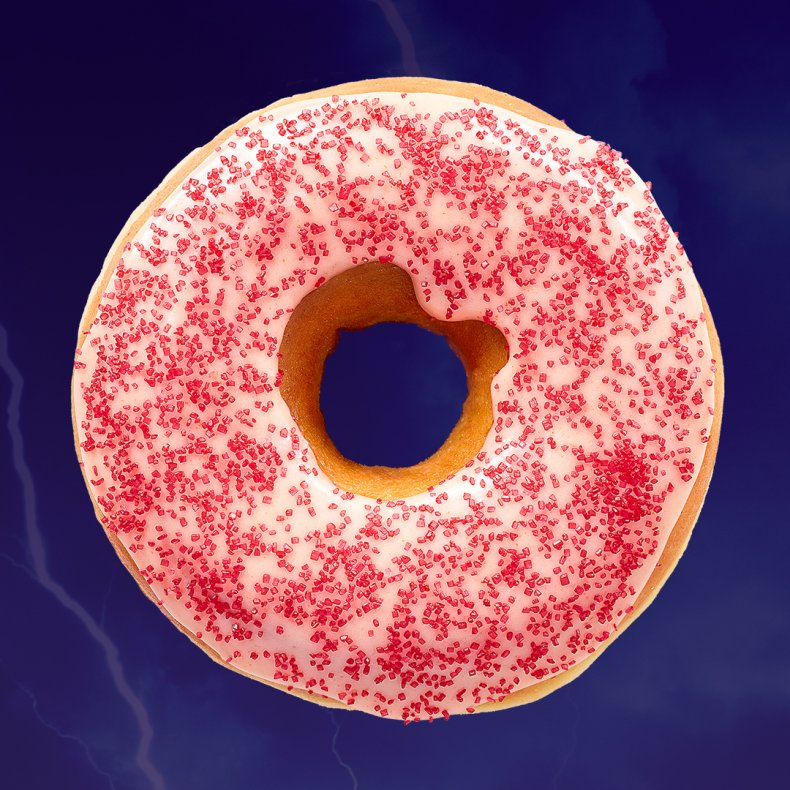 Dunkin' Donuts Spicy Ghost Pepper Donut