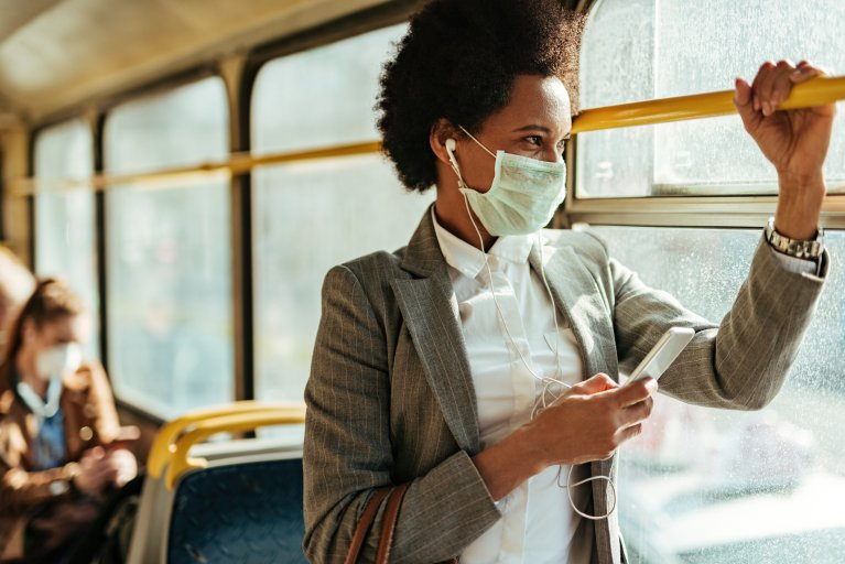 mask, bus, stock, getty