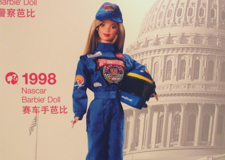 1998: Barbie joins NASCAR