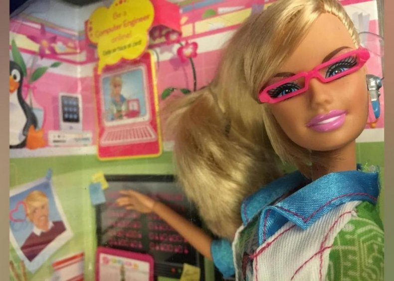 2010: Barbie becomes a computer engineer
