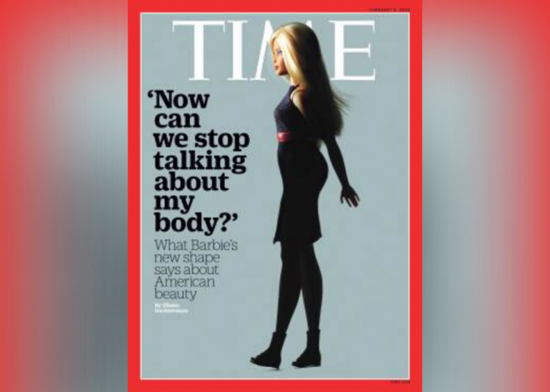 2016: Barbie's new body makes the cover of Time