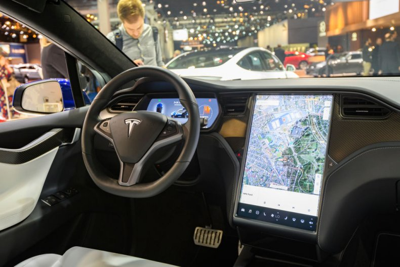 tesla model x electric car dashboard