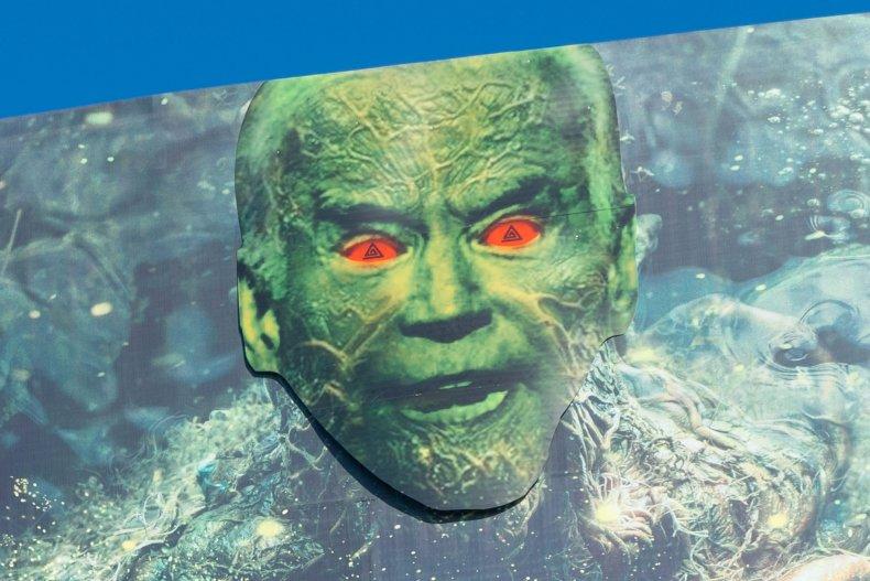 Biden as Swamp Thing closeup