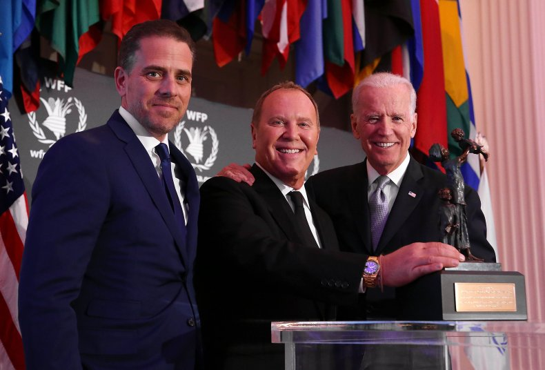 Joe and Hunter Biden in April 2016
