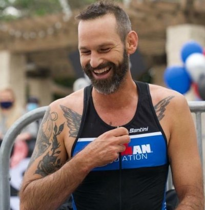 Brain cancer, ironman, athlete, father, daughter
