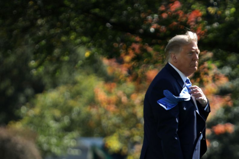 President Donald Trump Walks Towards Marine One