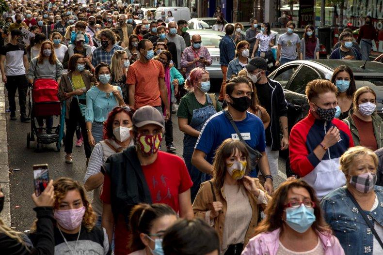 Madrid Spain coronavirus protests September 2020