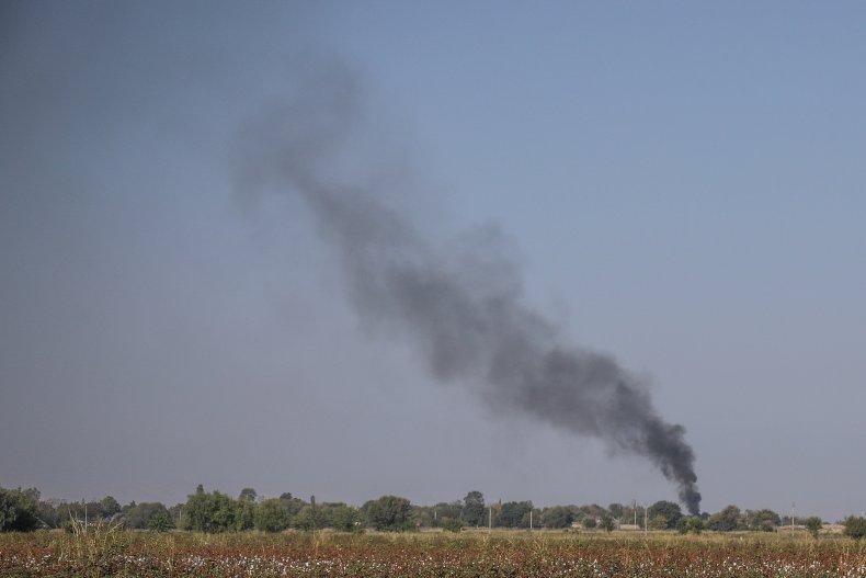 armenia, shelling, agdam, artillery, azerbaijan, agdam