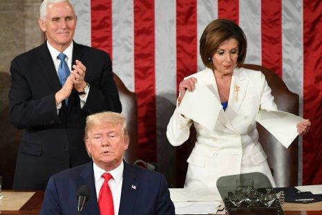 Pelosi Tearing State of the Union Speech