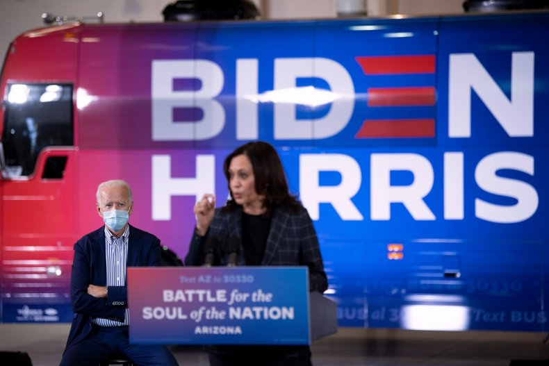 Biden and Harris campaigning