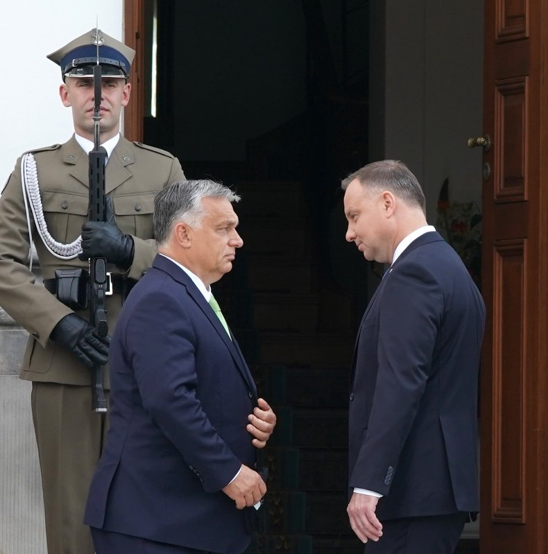 Hungarian Prime Minister Orban and Polish President