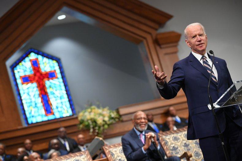 Biden at chruch