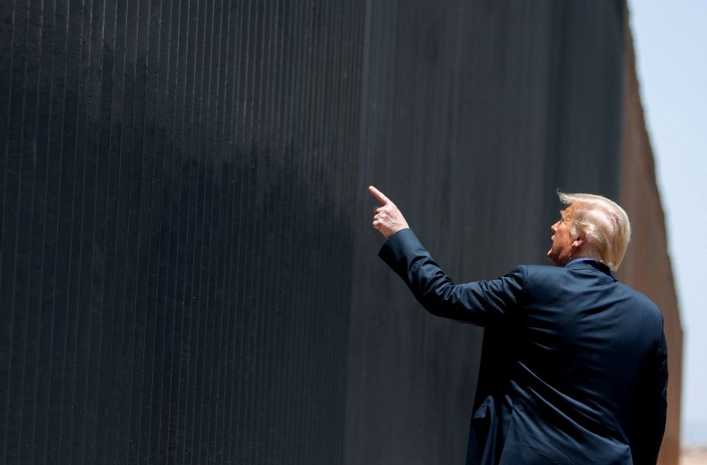Donald Trump, border wall, Mexico, rally, 2020