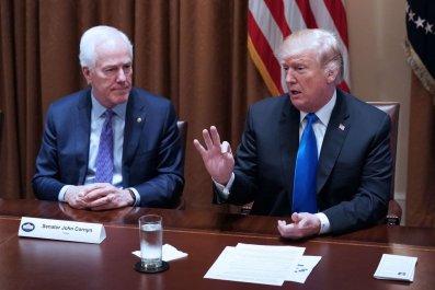 John Cornyn and Donald Trump
