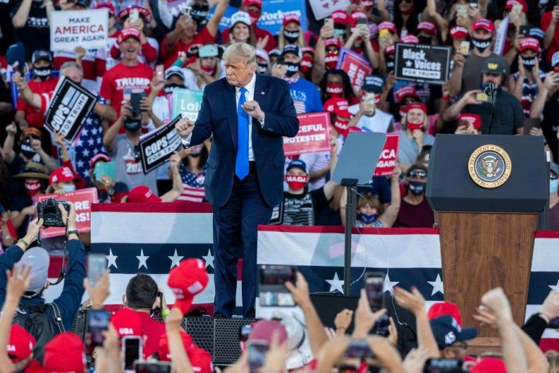 President Donald Trump in Carson City, Nevada
