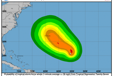 tropical storm epsilon depression 27 hurricane bermuda