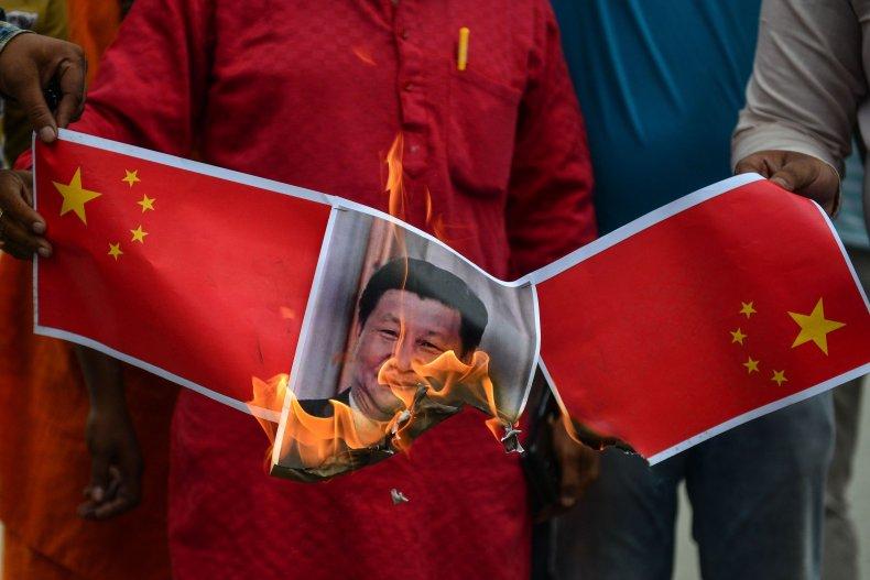 India China protest