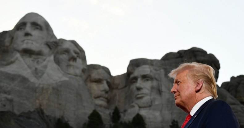 President Trump at Mount Rushmore on July