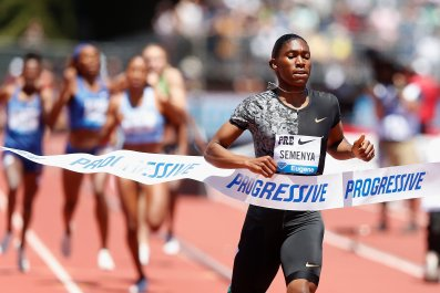 Caster Semenya racing in 2019