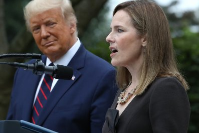 Amy Coney Barrett and Donald Trump