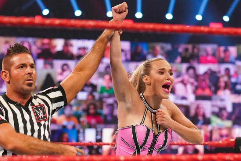 wwe monday night raw lana wins