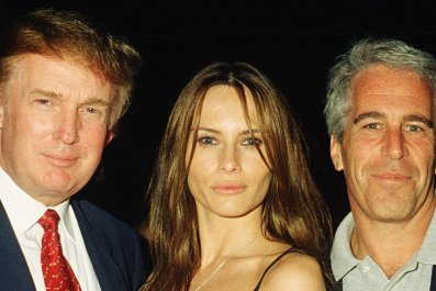 Donald Trump with Melania Trump, Jeffrey Epstein