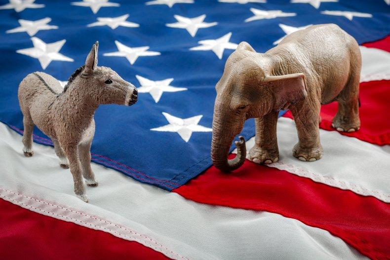 republicans, democrats, flag, getty, stock