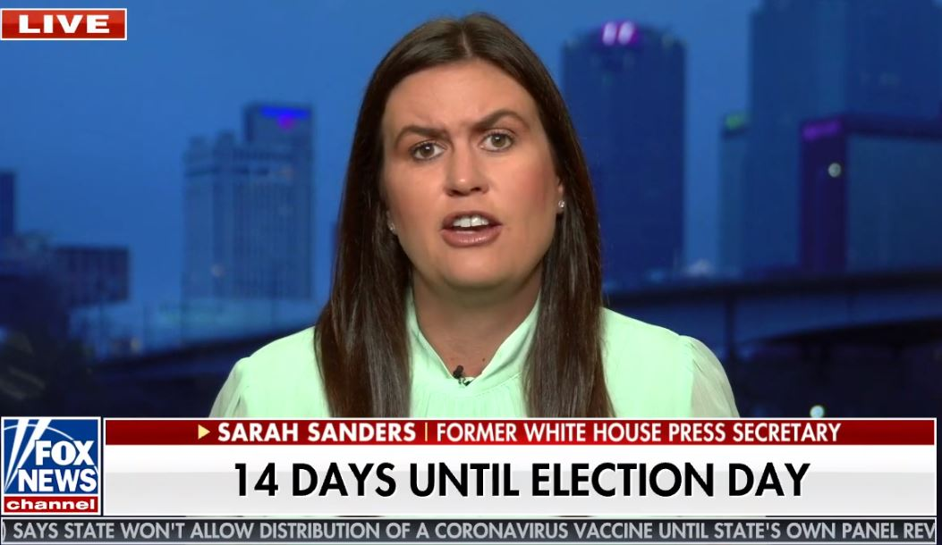 "Trump not even considering working with Democrats if he loses, Sarah Sanders says, predicting transition ""madness"""