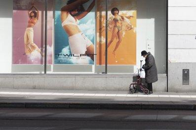 Elderly person, Stockholm, Sweden April 2020