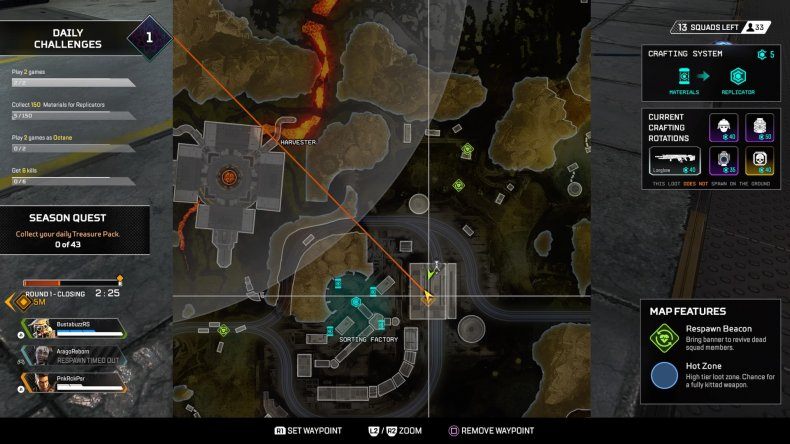 apex legends gravity lift location sorting factory