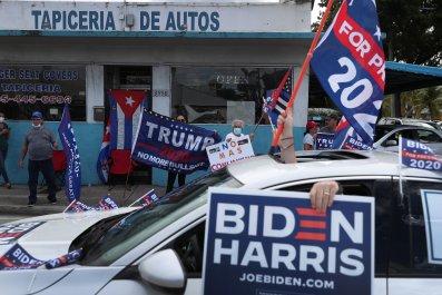 Biden and Trump Supporters