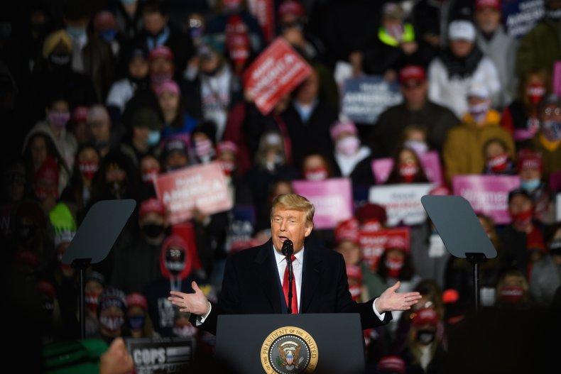 Donald Trump rally Erie Pennsylvania October 2020