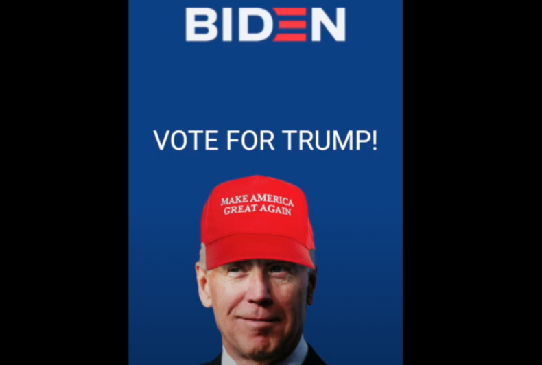 Vote Biden app hack demo