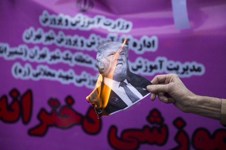 Donald Trump, Iran, sanctions, protest, Tehran, COVID