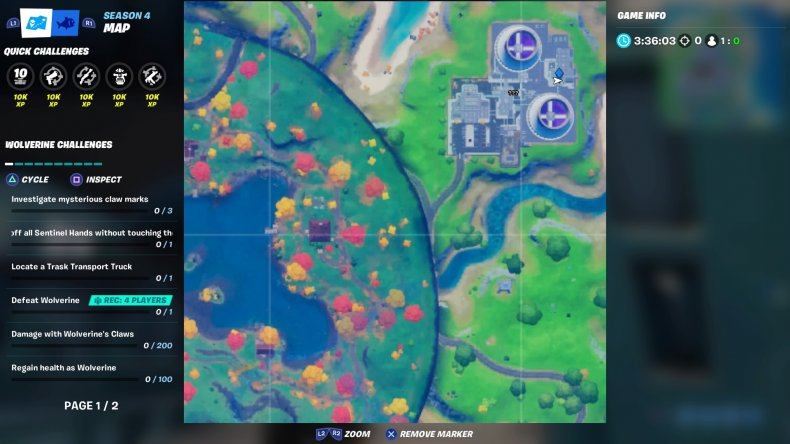 fortnite steamy stacks ring location 4 map